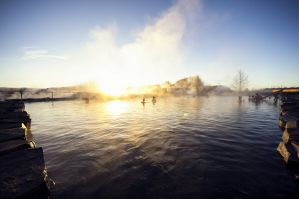 Le Secret Lagoon en Islande
